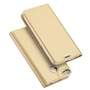 DUX DUCIS Skin Pro Series Card Slot Stand Leather Shell for Xiaomi Redmi Note 5A Prime - Gold
