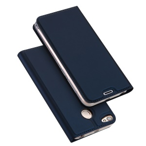 DUX DUCIS Skin Pro Series Card Slot Stand Leather Mobile Phone Case for Xiaomi Redmi Note 5A Prime - Dark Blue