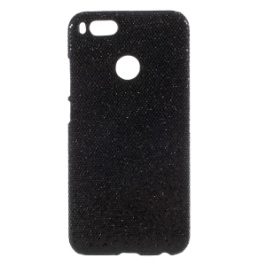 PU Leather Coated PC Hard Case for Xiaomi Mi A1 - Glittery Sequins / Black