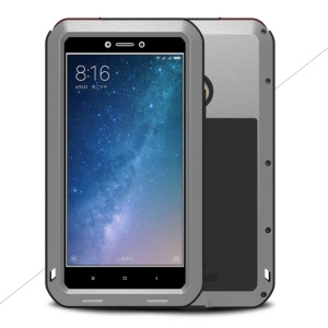 LOVE MEI Powerful Metal Defender Cover for Xiaomi Mi Max 2 Shockproof Drop-proof Dust-proof Case - Silver