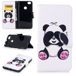 Pattern Printing Wallet Stand Leather Cellphone Cover for Xiaomi Redmi Note 5A Prime / Redmi Y1 - Adorable Panda