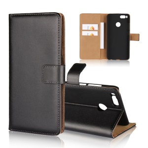Split Leather Wallet Stand Magnetic Phone Case for Xiaomi Mi A1 / 5X - Black