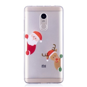 Christmas Pattern Printing TPU Case for Xiaomi Redmi Note 4X/Note 4 (Snapdragon) - Santa Claus and Reindeer