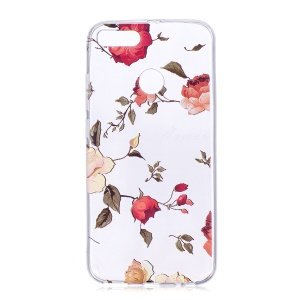 Pattern Printing Soft TPU Phone Case for Xiaomi Mi A1 / 5X - Vivid Flowers