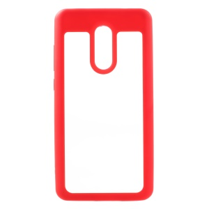 Silicone Edge + Crystal Acrylic Back Hybrid Shell Case for Xiaomi Redmi Note 4X - Red
