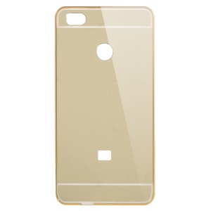 Sliding Metal Frame + Mirror-like PC Back Case for Xiaomi Mi 4S - Gold