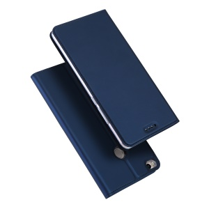 DUX DUCIS Skin Pro Series Card Holder Leather Stand Mobile Cover Shell for Xiaomi Mi Max 2 - Dark Blue