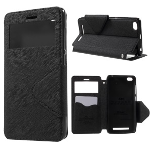 ROAR KOREA Diary View Window Leather Stand Case for Xiaomi Redmi 3 - Black