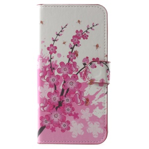 Patterned Stand Wallet Leather Protective Case for Xiaomi Mi A1 / 5X - Plum Blossom