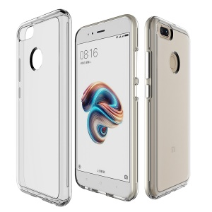 Clear PC Back + TPU Frame Hybrid Mobile Phone Case Accessory for Xiaomi Mi A1/ Mi 5X - Transparent