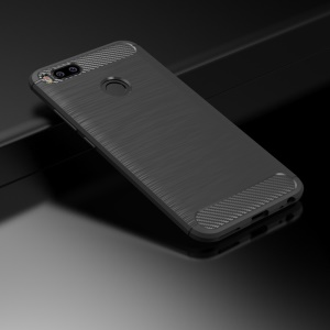 IPAKY Carbon Fibre Brushed TPU Cell Phone Case for Xiaomi Mi A1 / 5X - Grey