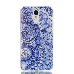 Pattern Printing TPU Case Phone Shell for Xiaomi Redmi Note 4X / Note 4 - Flower Pattern
