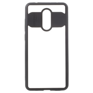 TPU Frame + Transparent Acrylic Back Hybrid Case for Xiaomi Redmi 5 - Black