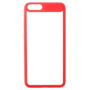 TPU Frame + Transparent Acrylic Back Combo Cover for Xiaomi Mi Note 3 - Red