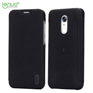 LENUO Ledream Series Thin Flip Leather Case with Card Holder for Xiaomi Redmi Note 5 (12MP Rear Camera) / Redmi 5 Plus (China) - Black