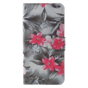 Pattern Printing Leather Stand Cover with Card Slots for Xiaomi Redmi Note 5A Prime / Y1 (India) - Vivid Flowers