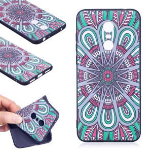 Soft Embossed Pattern Printing TPU Protective Casing for Xiaomi Redmi Note 5 (12MP Rear Camera) / Redmi 5 Plus (China) - Ancient Pattern