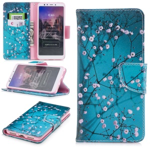 Pattern Printing PU Leather Magnetic Wallet Stand Shell for Xiaomi Redmi 5 - Wintersweet