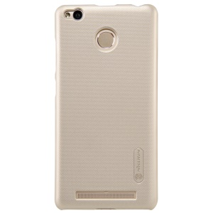NILLKIN Super Frosted Shield PC Back Protective Case for Xiaomi Redmi 3 Pro - Gold