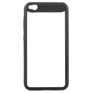Silicone Frame + Transparent Acrylic Combo Mobile Casing Cover for Xiaomi Redmi 5A - Black