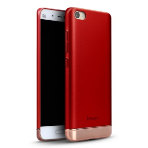 IPAKY PC Frame + TPU Hybrid Phone Shell  for Xiaomi Mi 5 - Red