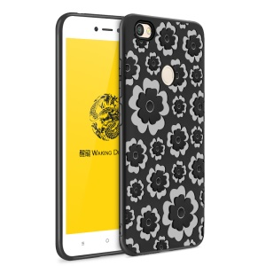 WAKING DRAGON 3D Flower Series TPU Soft Case for Xiaomi Redmi Note 5A Prime / Y1 (India) - Black