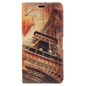 Eiffel Tower and Maple Leaves