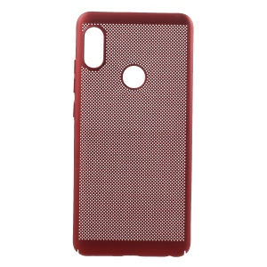 Rubberized Hollow Mesh Heat Dissipation PC Cover for Xiaomi Redmi Note 5 Pro (Dual Camera) / Redmi Note 5 (China) - Red