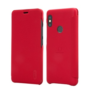 LENUO Ledream Series Leather Card Holder Cover for Xiaomi Redmi Note 5 Pro (Dual Camera) / Redmi Note 5 (China) - Red