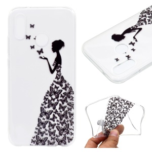 Pattern Printing TPU Back Cover for Xiaomi Mi A2 / Mi 6X - Butterfly Girl