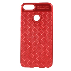 Woven Texture Soft TPU Shell for Xiaomi Mi A1/5X - Red