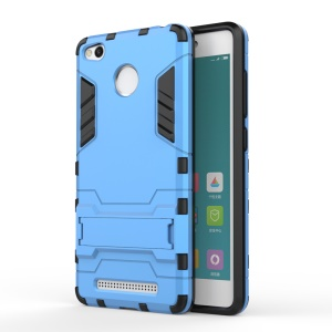 Solid PC + TPU Hybrid Cover with Kickstand for Xiaomi Redmi 3 Pro - Baby Blue