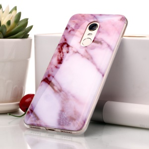Marble Pattern IMD TPU Cell Phone Case Cover for Xiaomi Redmi Note 5 (12MP Rear Camera) / Redmi 5 Plus (China) - Pink