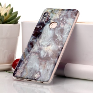 Marble Pattern IMD TPU Cell Phone Case for Xiaomi Redmi Note 5 Pro (Dual Camera) / Redmi Note 5 (China) - Black Blue