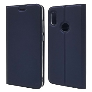 Magnetic Adsorption Leather Cell Phone Case for Xiaomi Mi A2 / Mi 6X - Dark Blue