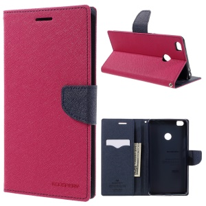 MERCURY GOOSPERY Diary Wallet Leather Stand Case for Xiaomi Mi Max - Rose