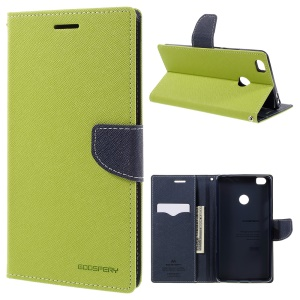 MERCURY GOOSPERY Diary Leather Cover Card Holder for Xiaomi Mi Max - Green