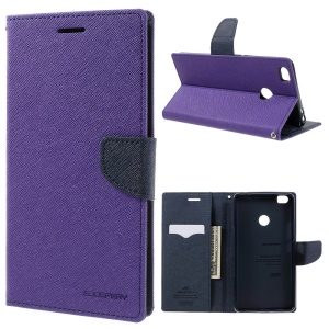 MERCURY GOOSPERY Fancy Diary PU Leather Cover for Xiaomi Mi Max - Purple
