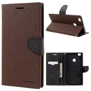MERCURY GOOSPERY Diary Leather Wallet Stand Case for Xiaomi Mi Max - Brown