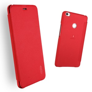 LENUO Ledream Slim Leather Card Slot Cover for Xiaomi Mi Max - Red