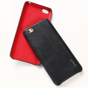 X-LEVEL Vintage Series Leather Coated Hard PC Case for Xiaomi Mi 5 - Black