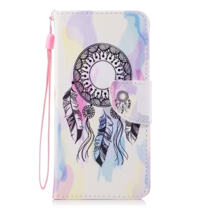 For Xiaomi Redmi 5 Patterned Leather Wallet Stand Folio Cover Shell - Dream Catcher