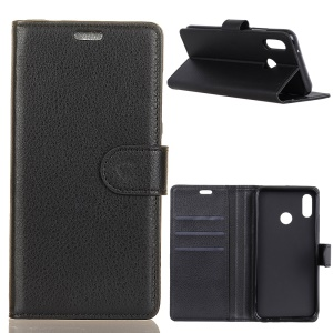 Litchi Grain Wallet Stand Leather Phone Case for Xiaomi Redmi S2 / Y2 - Black