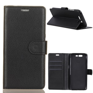 Litchi Texture Wallet Stand Leather Phone Case for Xiaomi Black Shark - Black