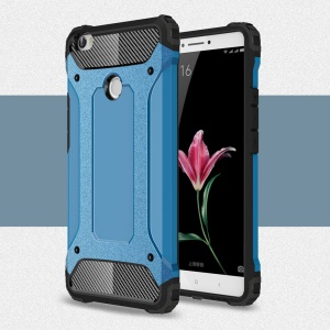 Armor PC TPU Phone Back Case for Xiaomi Mi Max - Baby Blue