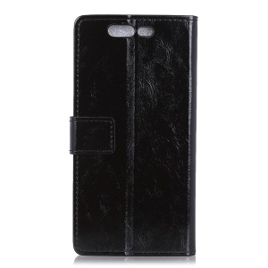 Crazy Horse Texture Wallet Stand Leather Phone Case for Xiaomi Black Shark - Black