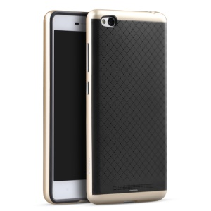 IPAKY 2-Piece PC Frame + Silicone Hybrid Shell for Xiaomi Redmi 3 - Gold