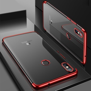 CAFELE Electroplating Soft TPU Back Case for Xiaomi Mi 8 (6.21-inch) - Red
