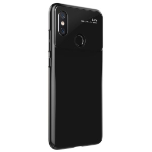 Tempered Glass Lens PC Phone Case for Xiaomi Mi 8 (6.21-inch) - Black