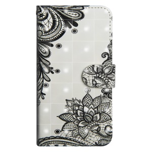 Pattern Printing Stand Leather Wallet Case for Xiaomi Redmi S2 / Y2 - Black Flower